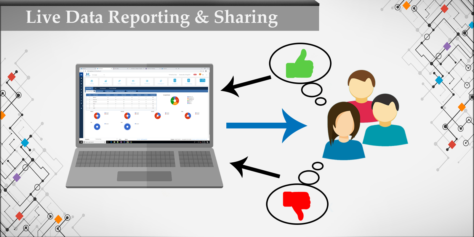 Live data Reporting, sharing and Marketing - MHL